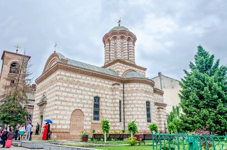 anton: BUCHAREST, ROMANIA - MAY 25, 2014: The Church Saint Anton located near Voievodal Palace, Curtea Veche. Editorial