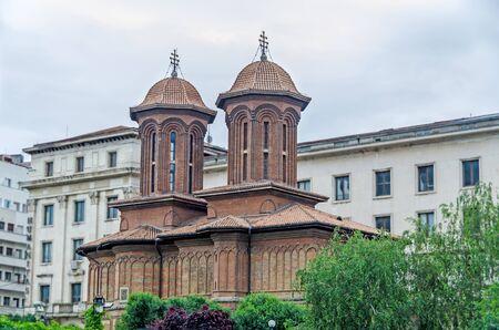 BUCHAREST, ROMANIA - MAY 25, 2014: The Church Kretzulescu build by Iordache Cretulescu in 1720-1722.