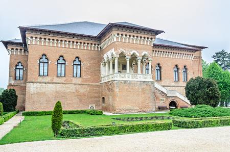 constantin: BUCHAREST, ROMANIA - APRIL 30, 2017: The Palace Mogosoaia near Bucharest, Romania, exterior detail. Build by Constantin Brancoveanu.