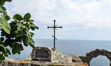 Detail of Chapel of Saint Nicholas from Cape Kaliakra.