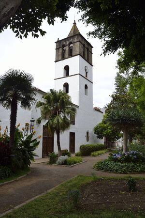 marcos: Church San Marcos Evangelista, Icod de los vinos, Tenerife, Spain Stock Photo