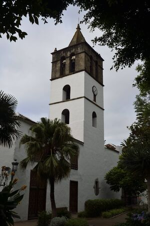 marcos: Church San Marcos Evangelista, Icod de los vinos, Tenerife, Spain Stock Photo