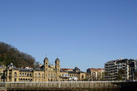 san sebastian: town hall, San Sebastian, Spain. Sunny day in winter Editorial