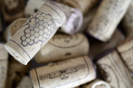 terroir: drawn grape raceme on a cork, background