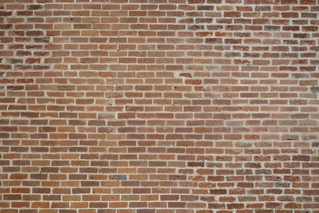 brick wall: little red bricks wall Stock Photo
