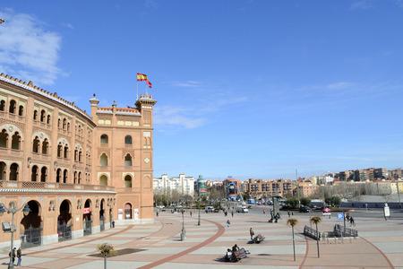 madrid  spain: Las Ventas square, Madrid, Spain