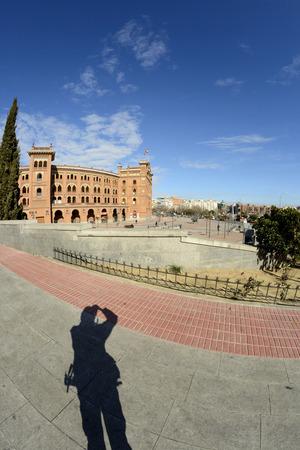 las ventas: Las Ventas square through a fisheye lens, Madrid