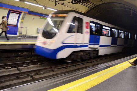 madrid  spain: moving subway, Madrid, Spain. Train
