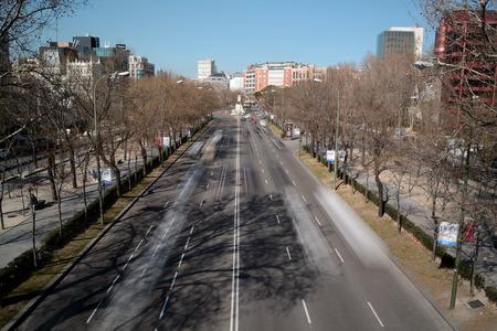 castellana: Castellana Avenue from a bridge, Madrid, Spain
