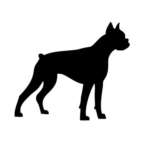 ボクサー犬、シルエット