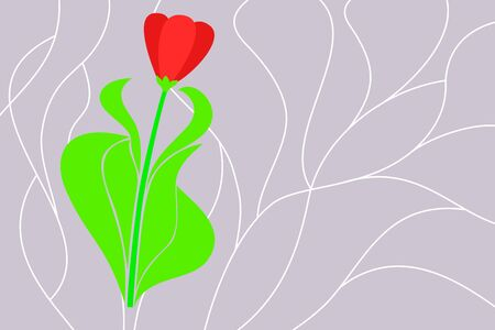 mosaic: flower over mosaic