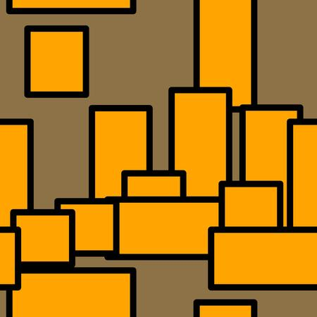 rectangles: orange rectangles, seamless pattern