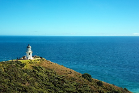 reinga: Top of the North Island - Cape Reinga, the famous white lighthouse