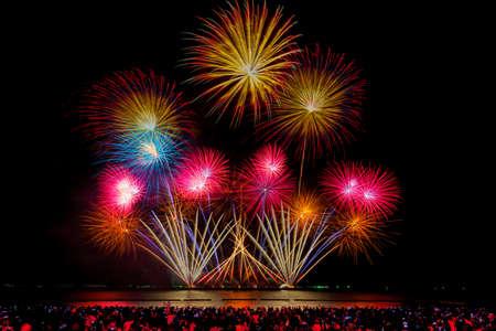 Pattaya Fireworks Festival 2020 on the east coast of the Gulf of Thailand, Pattaya beach Stock fotó