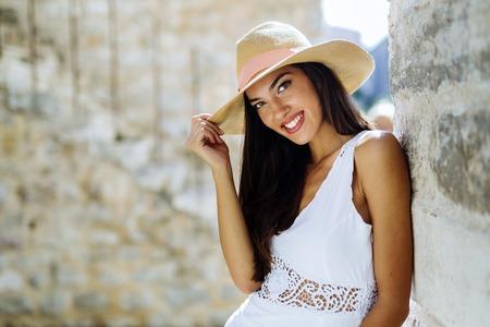 doctrine: Beautiful woman posing in summer. Romantic shot
