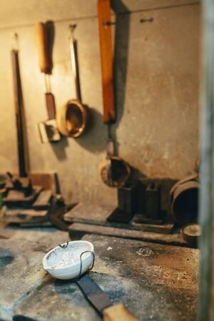 smelter: Jeweler tools in a furnace used to craft jewelery