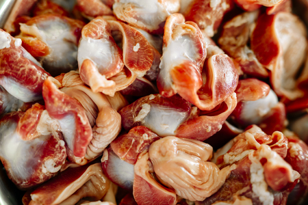 gizzard: Red meat, gizzard Stock Photo