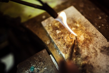 silver jewelry: Creation of a ring the traditional way