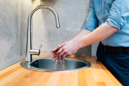 the hygiene: Keeping hands clean by washing them is hygienical