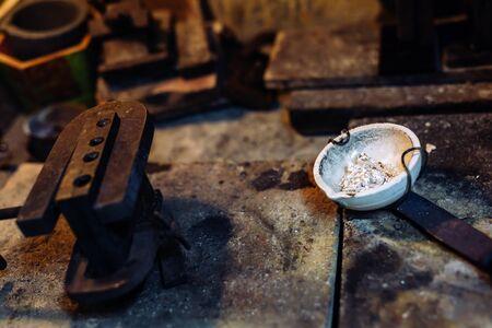 jewelery: Jeweler tools in a furnace used to craft jewelery
