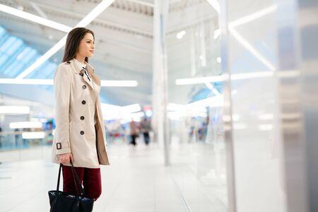 dressed: Well dressed businesswoman walking Stock Photo