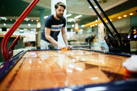 even: Air hockey game  is fun even for adults