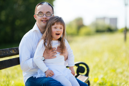 People with down sydrome sharing positive emotions Zdjęcie Seryjne