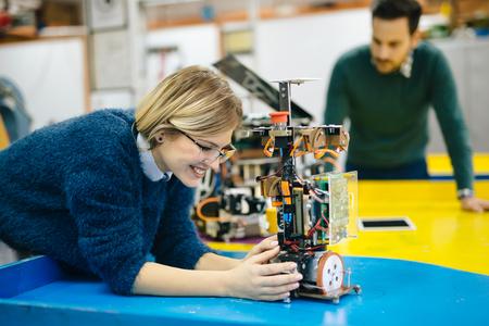 thinking machines: Robotics engineer students teamwork on project