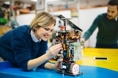 Engineering and robotics student working on project Stok Fotoğraf - 65800942