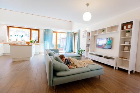 kitchen appliances: Built-in kitchen appliances  in a contemporary interior Stock Photo
