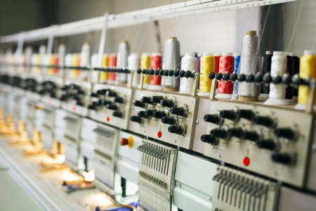 Fabric industry machinery production line Foto de archivo
