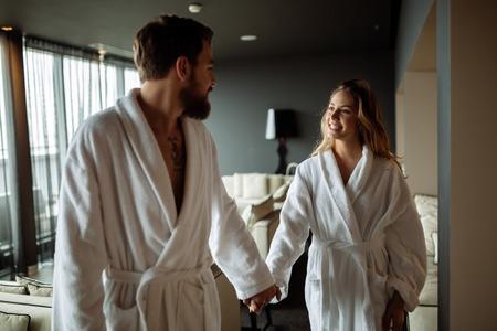 loving couples: Couple enjoying wellness weekend and spa Stock Photo