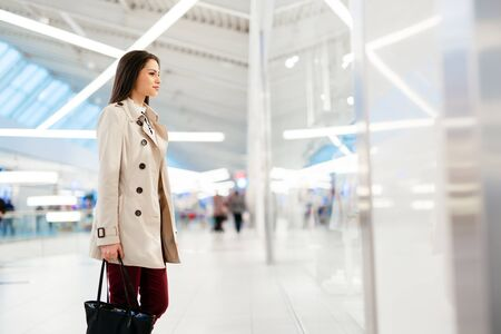 Well dressed businesswoman walking Stock Photo