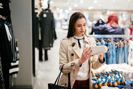 footware: Woman shopping trendy footware