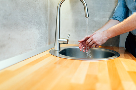 handwash: Keeping hands clean by washing them is hygienical