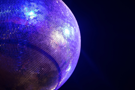 copys pace: Blue lit disco ball party concept