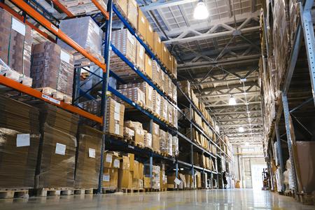 Interior of a modern warehouse