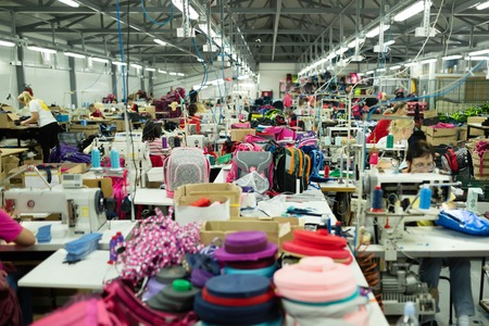 Industriële druk naaien werkplek
