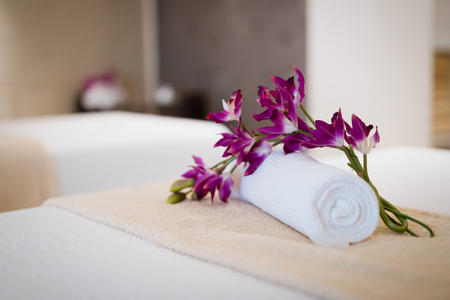 Beautiful modern massage room in spa resort