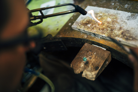 Processing of a ring by goldsmith