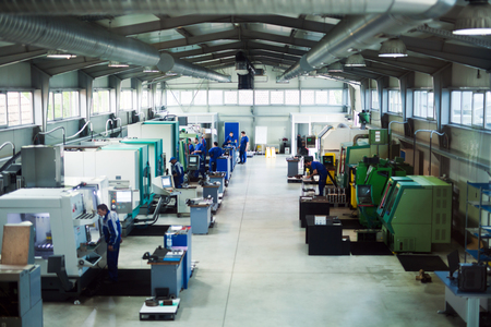 Machine shop and factory of industrial metallurgical works