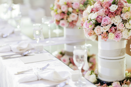 Beautiful wedding decoration Stock Photo