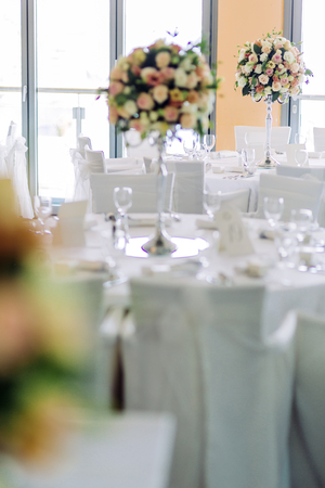 Beautiful wedding tables and roses