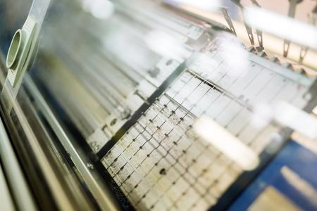 Computerized knitting machines Stock Photo
