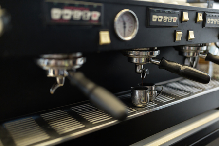 Professional coffee machine used in coffee industry