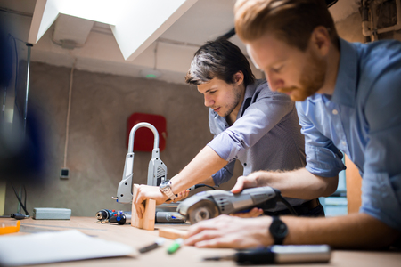 Two designers working together Stock Photo