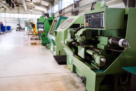 Industrial factory with cnc machines Banco de Imagens