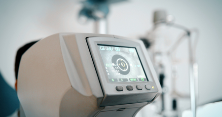 안과 장비. 의료 실험실.
