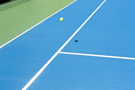 Tennis court ball in  out , ace  winner