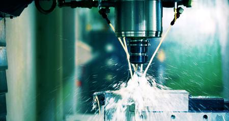 CNCマシンのクローズアップ